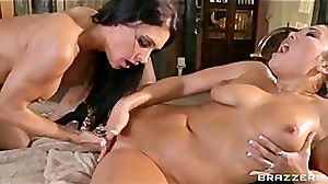 BIG TIT MILF MASSAGE TURNS INTO TIGHT 69..