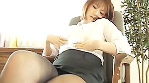 Beautiful rin in sexy office outfit part3
