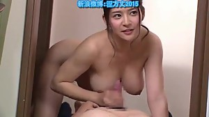 Japanese milf fucks father behind not..