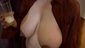 Mom's huge lactating boobs need..